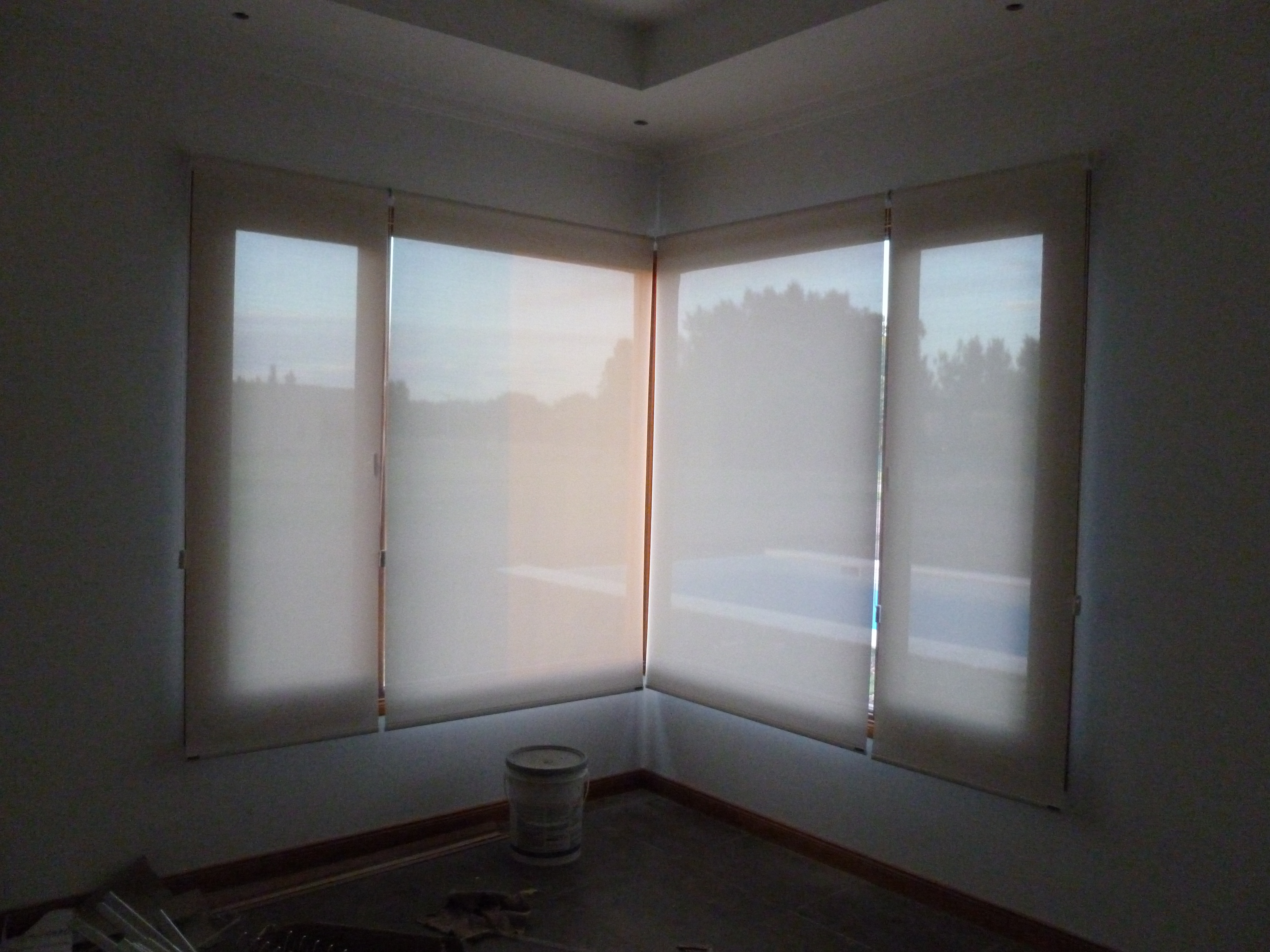 Cortinas roller sun screen 5 white white lo mejor del - Cortinas screen opiniones ...