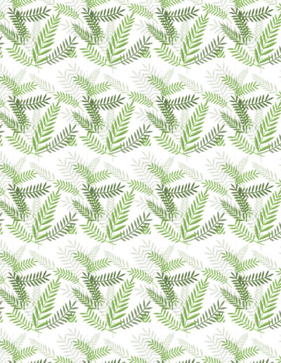 Florales 7 Ferns White